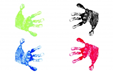 Child's hand print clip art
