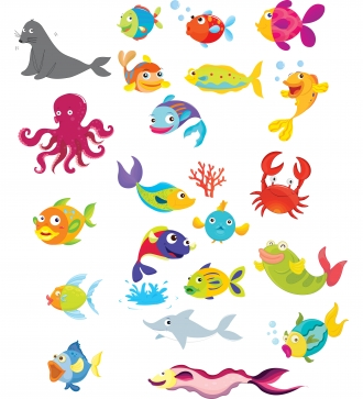 Under water sea creatures