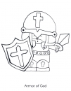 Armor of God Coloring Page