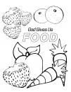 God Gives Us Food Coloring Page