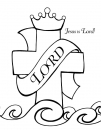 Jesus is Lord Coloring Page