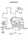 Jesus My Savior Coloring Page