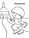I Worship God Coloring Page