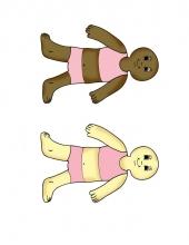 Color Girl Paper Dolls