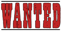 Wanted word png