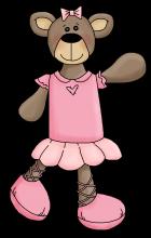 Ballerina bear 1 png