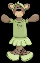 Ballerina bear 2 png