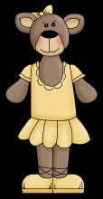 Ballerina bear 3 png
