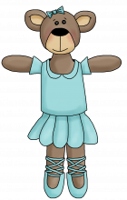 Ballerina bear 4 png
