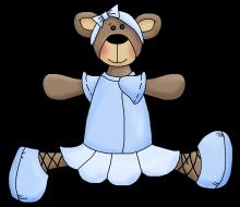Ballerina bear 6 png