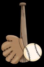 Baseball bat glove png