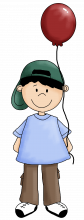 Boy with balloon png
