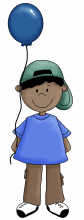 Boy with balloon 2 png