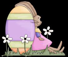 Egg bunny png