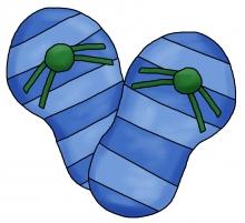 Flip flops blue jpg