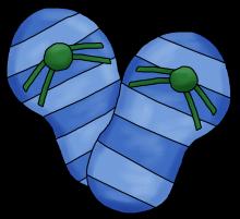 Flip flops blue png