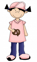 Girl with pretzel png