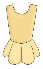 Leotard tutu yellow png