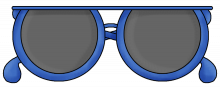 Sunglasses blue png