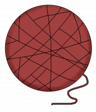 Yarn ball png